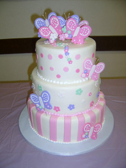 Butterfly Baby Shower Cake Images : Baby Shower
